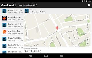 Screenshot of GasoLima