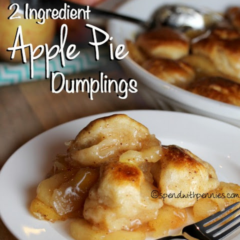 Apple Pie Dumplings! (2 Ingredients!)