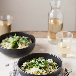 Pea And Asparagus Risotto With Basil And Lemon