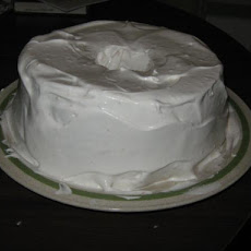 Chocolate Angel Food Cake With Marshmallow Frosting