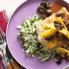 Cumin-Dusted Cod with Arroz Verde