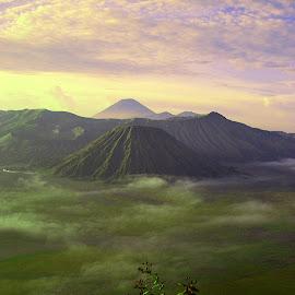 waiting sunrise at mt. bromo by Git Gitos - Landscapes Mountains & Hills ( sunrise, bromo )