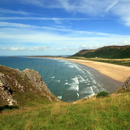 Rhossili Beach, Gower, Swansea by John Davies - Landscapes Beaches ( gower, rhossili beach, swansea, beautiful beaches, rhossili )