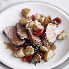 Spicy Pork Tenderloin with Potatoes and Peppers