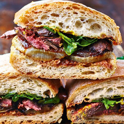 Next-level Steak & Onion Sandwich