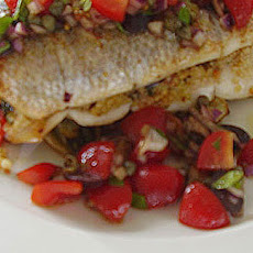Sea Bass Stuffed With Griddled Vegetable Couscous