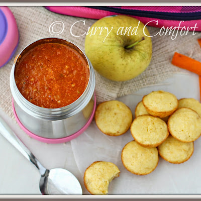 Roasted Tomato Soup with Mini Cornbread