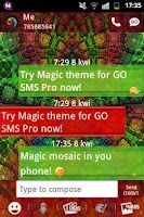 Screenshot of GO SMS PRO Theme Magic Mosaic
