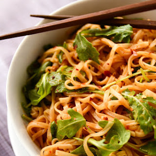 Simple Sesame + Spice Rice Noodles