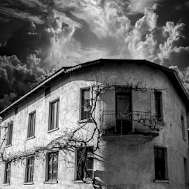by Горан Ѓоровски - Buildings & Architecture Homes ( #black and white, #canon, #old house )
