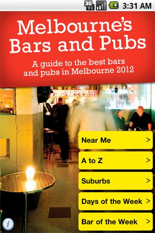 Melbourne Bars and Pubs 2012