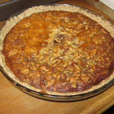 Pecan Walnut Honey Pie With Wheat Crust