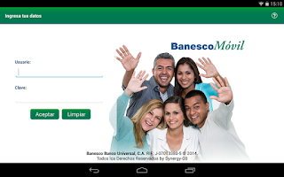 Screenshot of BanescoMóvil