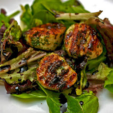 Dinner Tonight: Grilled Scallops with Mint Pesto and Balsamic Syrup