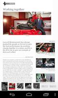 Screenshot of The official Ferrari Magazine