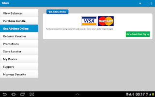 Screenshot of Telkom Mobile