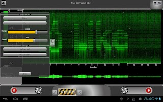 Screenshot of ProSpec Lite Spectrum Analyzer