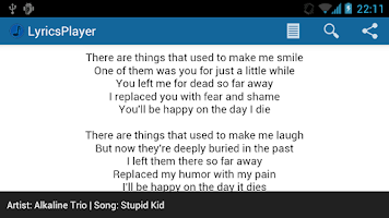 Screenshot of LyricsPlayer