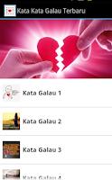 Screenshot of Kata Kata Galau Terbaru