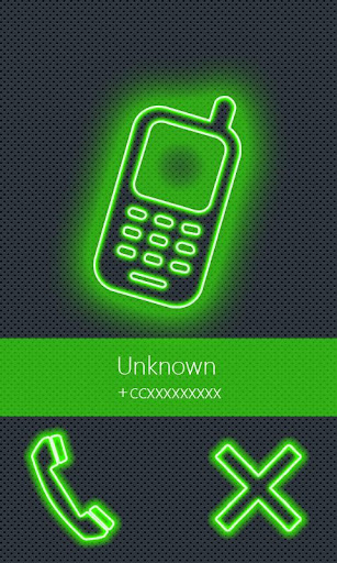 BIG caller ID Theme NeonGreen