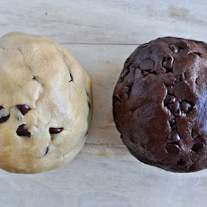 Brown Butter Double Fudge Chocolate Chip Cookie Dough Cookies