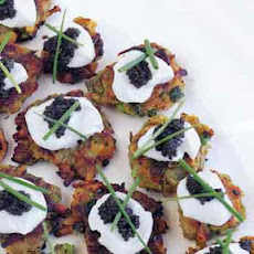 Sweet-Potato Pancakes with Caviar