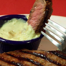 Grilled Strip Steaks With Horseradish Guacamole