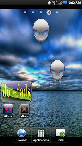 Alien Head doo-dad blue