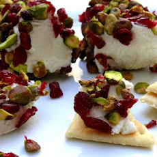 Goat Cheese with Cranberries & Pistachios