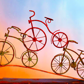 Bicycle Built for Three by Merna Nobile - Artistic Objects Other Objects ( bicycles three built )