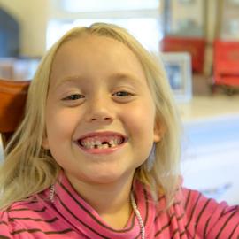 Look Grandma, No teeth!!! by Jeanine Akers - Babies & Children Child Portraits ( little girl, toothless, nikond610, portrait )