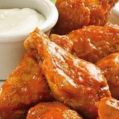 Hot and Spicy Chicken Wings with Blue Cheese Dressing