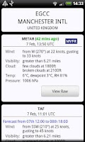 Screenshot of AirReport Lite - METAR & TAF