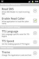 Screenshot of SMS Reader