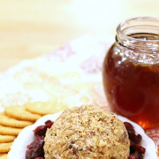 Walnut Crusted Honey Cranberry Cheese Ball