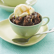 Chocolate and Caramel Bread Pudding