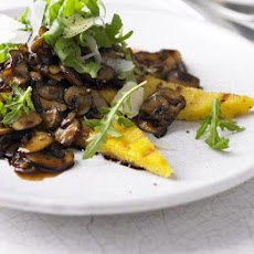 Chargrilled Polenta With Balsamic Mushrooms
