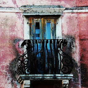 Omis by Mirjana  Bocina - Buildings & Architecture Decaying & Abandoned ( old, old_balcony, omiš, abandoned, building,  )
