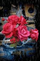 Screenshot of Roses Under Rain Live Wallpape