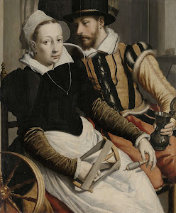 RIJKS: Pieter Pietersz. (I): Man and Woman at a Spinning Wheel 1570