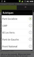 Screenshot of Politique Française