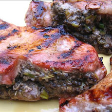 Pork Chops With Savory Mushroom Stuffing