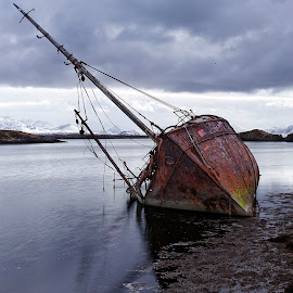 Thorgeir GK 73 by Fokion Zissiadis - Transportation Boats ( seascape shipwreck thorgeir iceland stykkisholmur,  )
