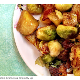 Bacon, Brussels & Potato Fry Up