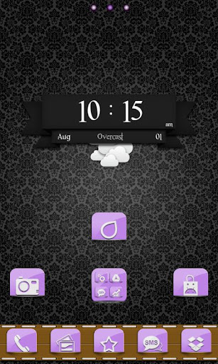 免費個人化App|Go Launcher: Purple Pockets|阿達玩APP