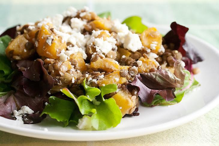 Squash and Lentil Salad with Feta Recipe   Yummly