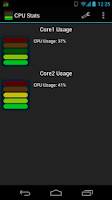 Screenshot of CPU Stats