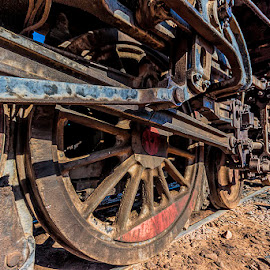 Old locomotive by Jim Cunningham - Transportation Trains ( old, rails, engine, locomotive, zug, train )
