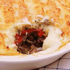 Vegetarian Shepherd's Pie with Goats' Cheese Mash
