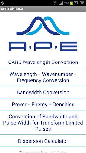 APE Optics Calculator